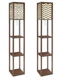 wallace shelf floor l threshold floor shelf l with ivory shade includes cfl bulb