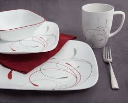 Corelle Square Dishes Corelle Splendor 16 Piece Dinnerware Set Service For 4 U0026 Reviews