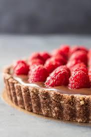 almond chocolate raspberry tart green healthy cooking
