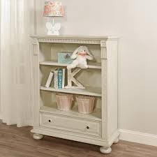 White Bookcase With Drawer by Oxford Baby Mid Century Claremont Bookcase Antique White Toys