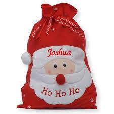 santa sacks luxury personalised embroidered christmas jumbo character santa