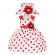 baby red polka dot dress
