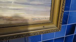 framed art sailboat on shore 23 5 x 17 5