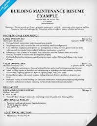 gallery of apartment maintenance resume latest resume format