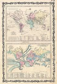 Ocean Currents Map File 1861 Johnson Climate Map Of The World W Tides And Ocean