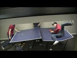 rec tek ping pong table retard breaks ping pong table youtube