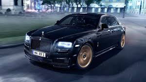 matte rolls royce ghost german tuners have modified our rolls royce ghost with gold top