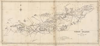 Map Of The Virgin Islands Maps From The Journal Of The Royal Geographical Society Of London