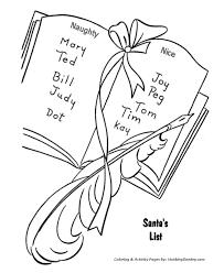 santa claus coloring pages santa u0027s list naughty nice