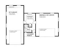 Rv Garage Floor Plans Rv Garage Plans Rv Garage Plan With 2 Car Garage And Workshop