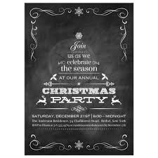 chalkboard tannenbaum christmas tree holiday party invitation