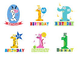 1st birthday free 1st birthday vector free vector stock