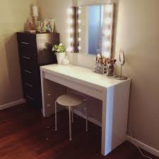 bedrooms white makeup vanity with lights modern makeup table
