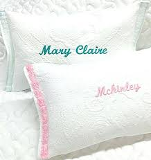 personalized pillows for baby personalized pillow cases etsy best embellished name pillows