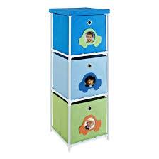 Canvas Storage Bins Altra Blue With Car Theme Kids 3 Bin Storage Unit 5815096