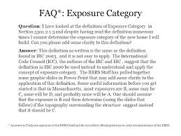 theme question definition question i have looked at the definition of exposure category in