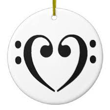 bass clef ornaments keepsake ornaments zazzle