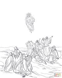 jesus ascension into heaven coloring page free printable