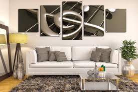 Music Note Wall Decor 5 Piece Multi Panel Canvas Panoramic Canvas Wall Art Music Huge