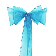 teal chair sashes 200pcs new teal blue organza chair sashes bow wedding and events