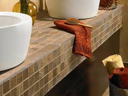 Bathroom Vanity Countertops Ideas Tile Countertop Buying Guide Hgtv Bathroom Vanity Tile Countertop