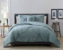 Blue Bed Set 4 Piece Paige Mineral Blue Comforter Set
