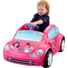 barbie power wheels power wheels dora and friends volkswagen new beetle 6v battery