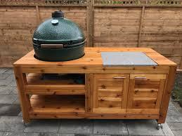 large green egg table xl big green egg cedar table build album on imgur