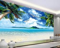 3d Wallpaper For Home Wall India Wall Paper Ocean Beach Murals Scenery Mural Wallpaper Mural
