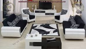 modern sofa modern livingroom black and white microfiber