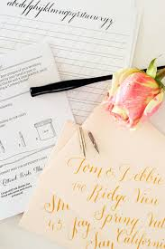 diy calligraphy for your wedding bridal musings wedding blog