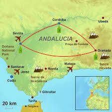 Cordoba World Map by Sevilla Cordoba Granada Tour Of Andalucia