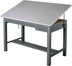 Steel Drafting Table Mayline Economy Ranger Steel Four Post Drafting Table With Tool