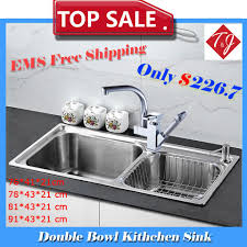 Aliexpresscom  Buy  Sizes Double Bowl Kitchen Sinks Stainless - Stainless steel kitchen sinks cheap