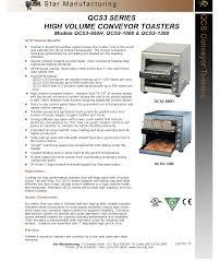 Holman Conveyor Toaster Star Qcs3 1000 Holman Qcs Conveyor Toaster Culinary Depot