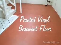Flooring Ideas For Basement Painted Vinyl Basement Floor Hometalk