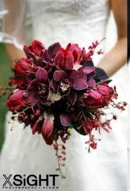 Dark Red Flower - dark wedding flowers classic wedding bouquets basic round