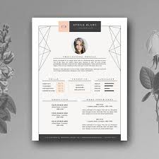 pretty resume templates creative resume template 3 page resume templates creative market