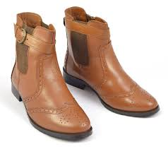 womens chelsea boots womens pull on brogue chelsea boots style 6005