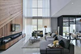 wil s 11 residence living room with a volume wood wall