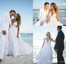 Destination Wedding Dresses Cheap White Flowy Beach Wedding Dresses Free Shipping White