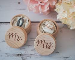 Wooden Wedding Gifts Mr U0026 Mrs Ring Box Set Engraved Wedding Ring Box Wooden Ring