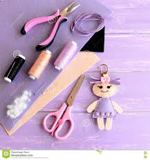 creative art and craft idea for kids felt doll keychain scissors