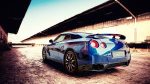 nissan gtr wallpaper blue cars jdm nissan gtr r35 vehicles walldevil