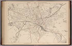 Massachusetts City Map by City Of Worcester Massachusetts David Rumsey Historical Map
