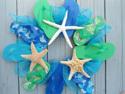 flip flop wreath summer themed wreaths hello nutritarian