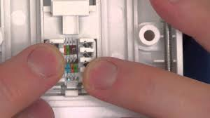how to install a cat5e network faceplate socket and how to fix a