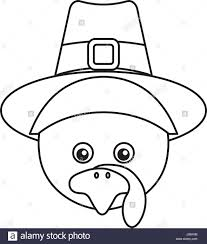 thanksgiving turkey character icon stock vector art u0026 illustration