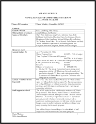 volunteer report template annual report template word exle mughals