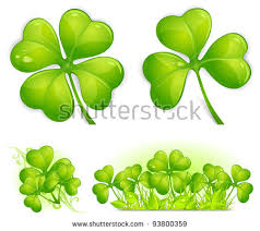 4 leaf clover template four leaf clover stock images royalty free images vectors